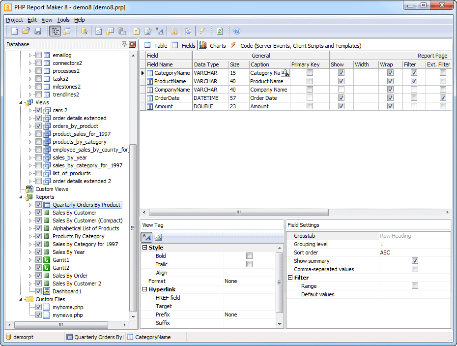 Php report maker portable