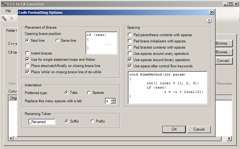 Tangible Software Source Code Converters