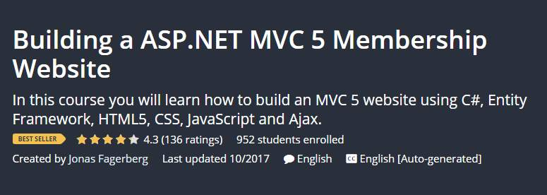 Building a ASP.NET MVC 5 Membership Website
