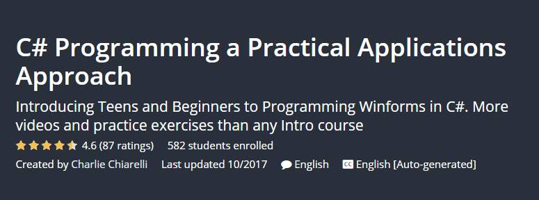 C# Programming a Practical Applications Approach
