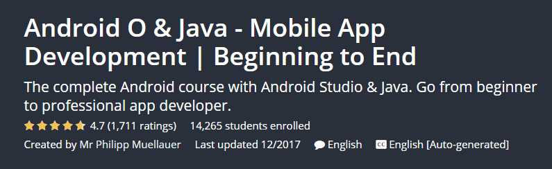 Android O & Java - Mobile App Development