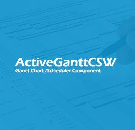 ActiveGanttCSW WPF Gantt Chart / Scheduler Control C# 3.2.3
