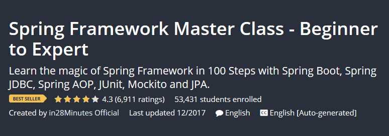 Spring Framework Master Class