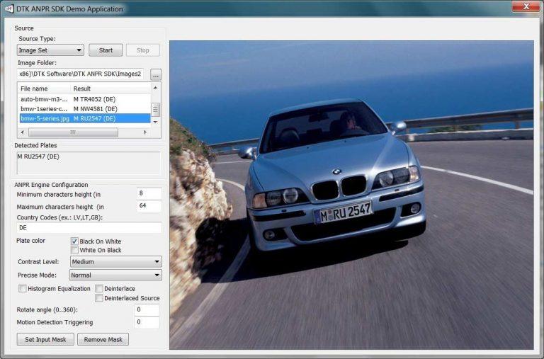 DTK Software License Plate Recognition SDK