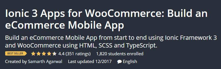Ionic 3 Apps for WooCommerce