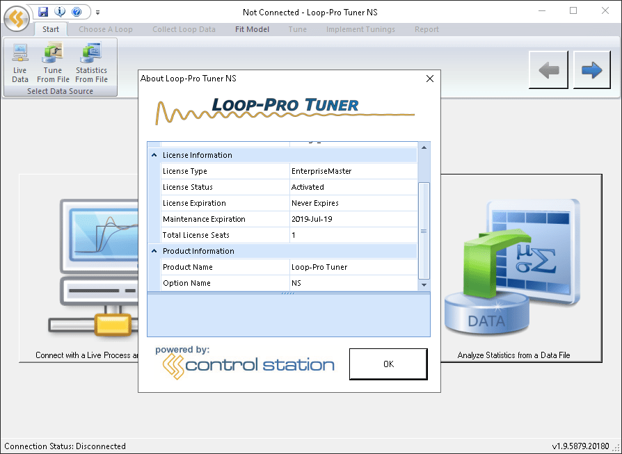 Loop-Pro tuner screen