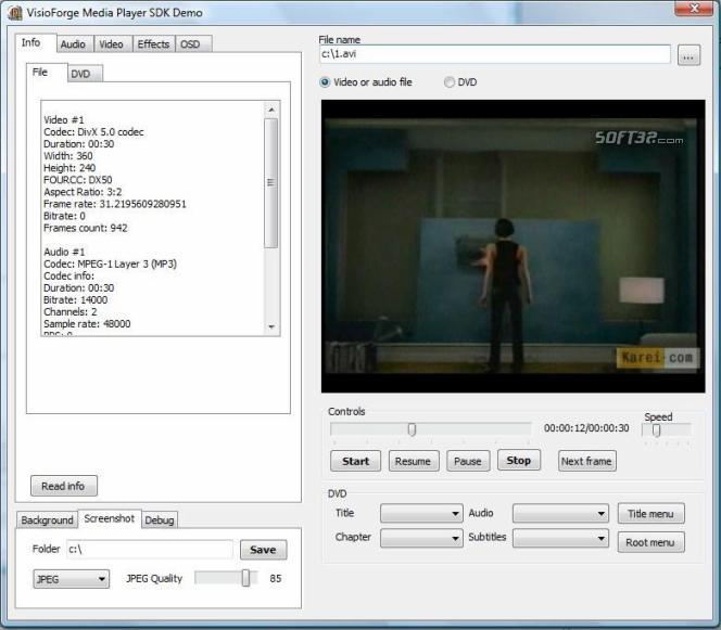 visioforge media player