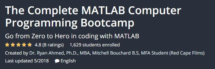 The Complete MATLAB Computer Programming Bootcamp
