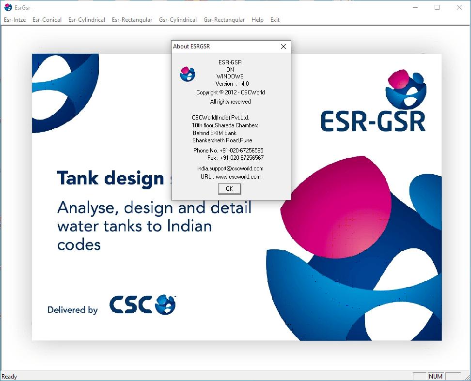 CSC ESR-GSR screenshot