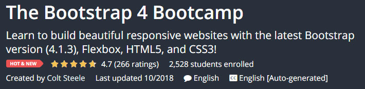 The Bootstrap 4 Bootcamp