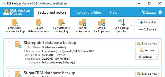 SQL Backup Master
