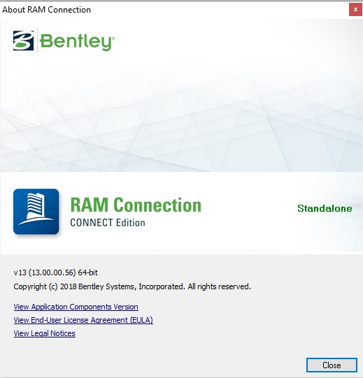 دانلود Bentley RAM Connection CONNECT Edition 13 00 00 56