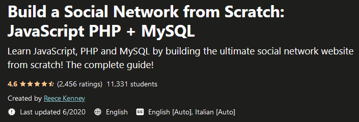 Build a Social Network from Scratch: JavaScript PHP + MySQL