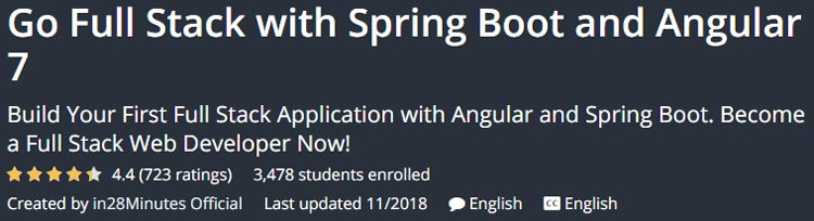 Go Full Stack with Spring Boot and Angular 7