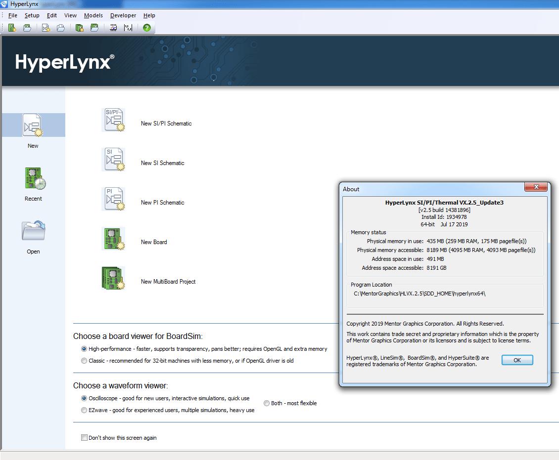 HyperLynx screenshot