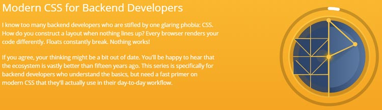 Modern CSS for Backend Developers
