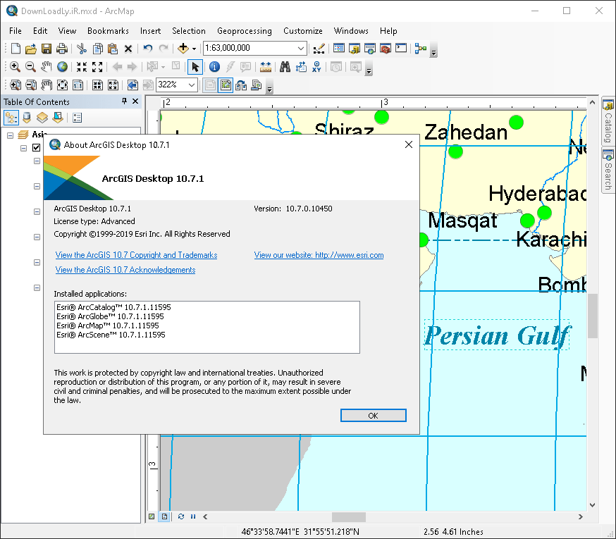 ArcGIS screenshot