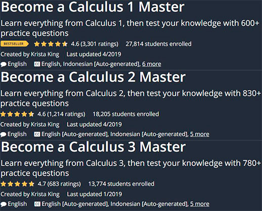 Become a Calculus 1 & 2 & 3 Master