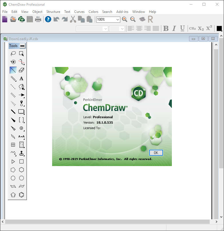 برنامج PerkinElmer ChemOffice Suite 2019 ChemOffice-ChemDraw.