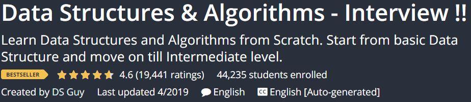 Data Structures & Algorithms - Interview