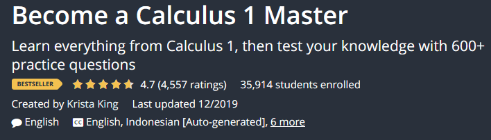 Become a Calculus 1 Master