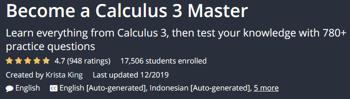 Become a Calculus 3 Master