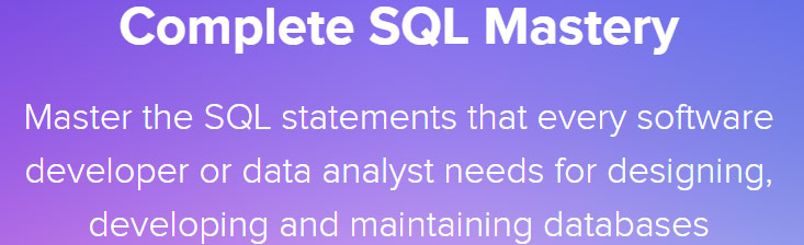 Complete SQL Mastery