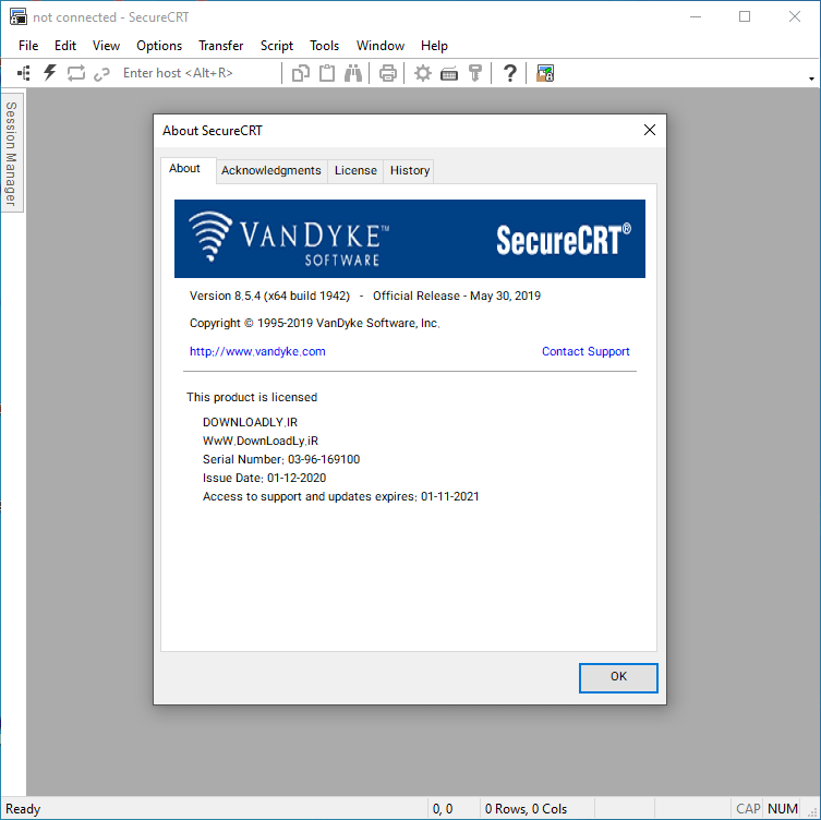 SecureCRT screenshot