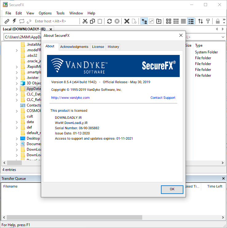 SecureFX screenshot