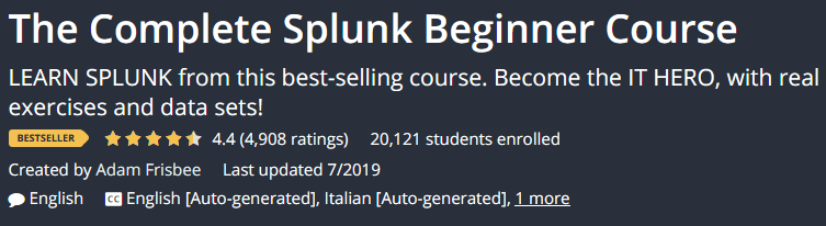 The Complete Splunk Beginner Course