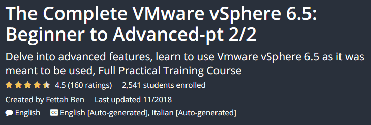 The Complete VMware vSphere 6.5: Beginner to Advanced-pt 2/2
