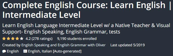 Complete English Course: Learn English Intermediate Level