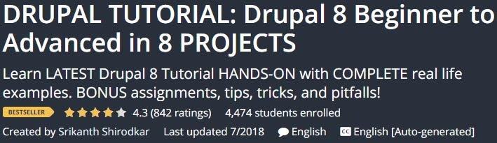 DRUPAL TUTORIAL: Drupal 8 Beginner to Advanced