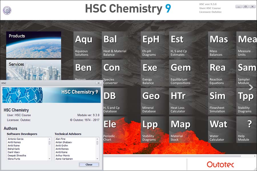 HSC Chemistry screenshot