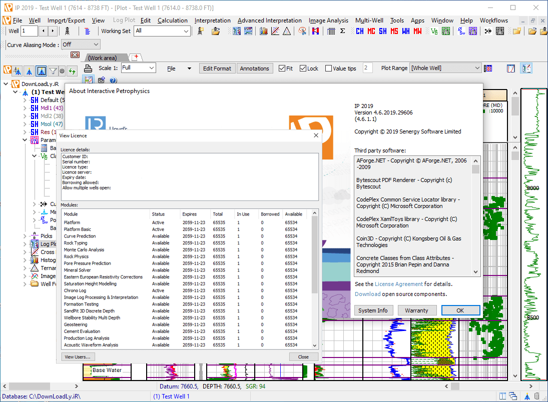 Interactive Petrophysics IP screenshot