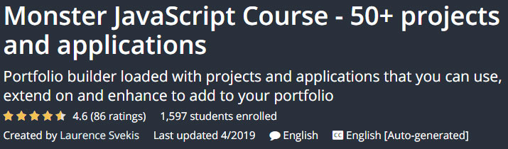 Monster JavaScript Course projects and applications