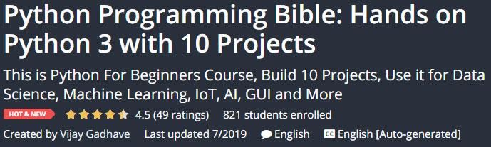 Python Programming Bible: Hands on Python