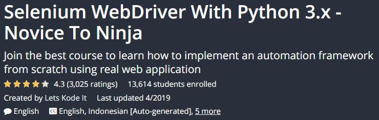 Selenium WebDriver With Python 3