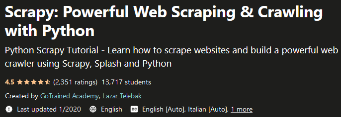 Scrapy: Powerful Web Scraping & Crawling with Python