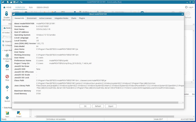 modeFRONTIER screenshot