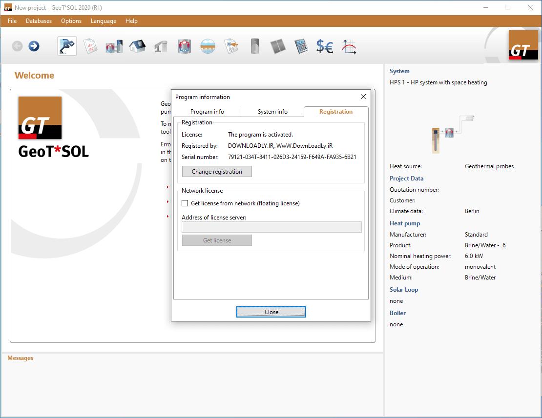 GeoTSOL screenshot