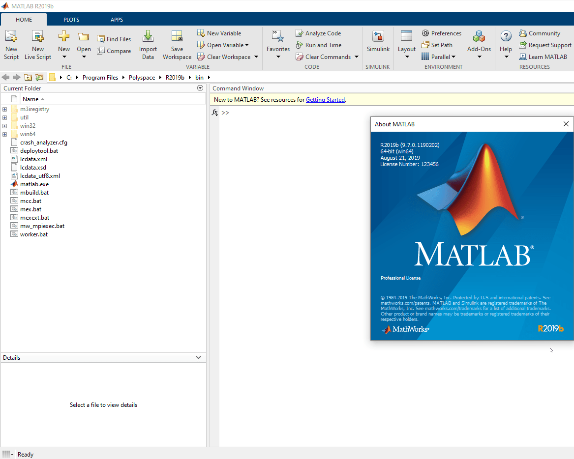 برنامج ماتلاب MATLAB R2020a Update MATLAB-screen1.png