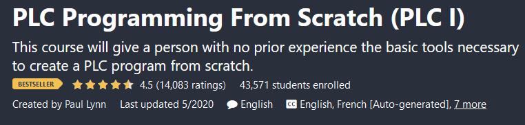 PLC Programming From Scratch (PLC I)