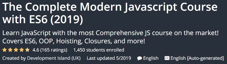 The Complete Modern Javascript Course with ES6