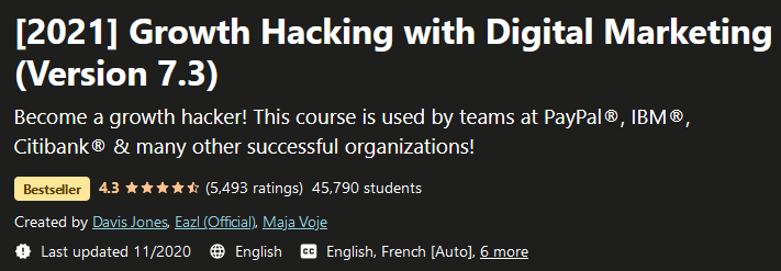 [2021] Growth Hacking with Digital Marketing (Version 7.3)