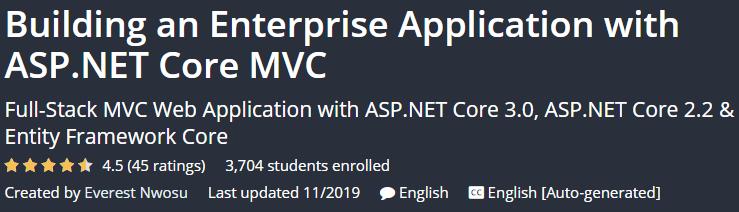 Building an Enterprise Application with ASP.NET Core MVC