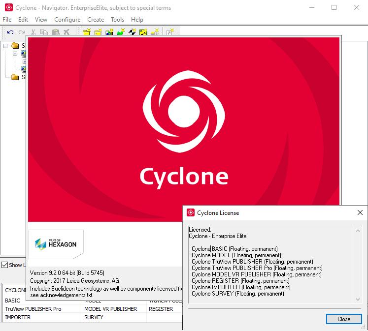 Leica Cyclone screenshot