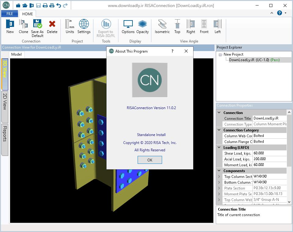 RISAConnection screenshot