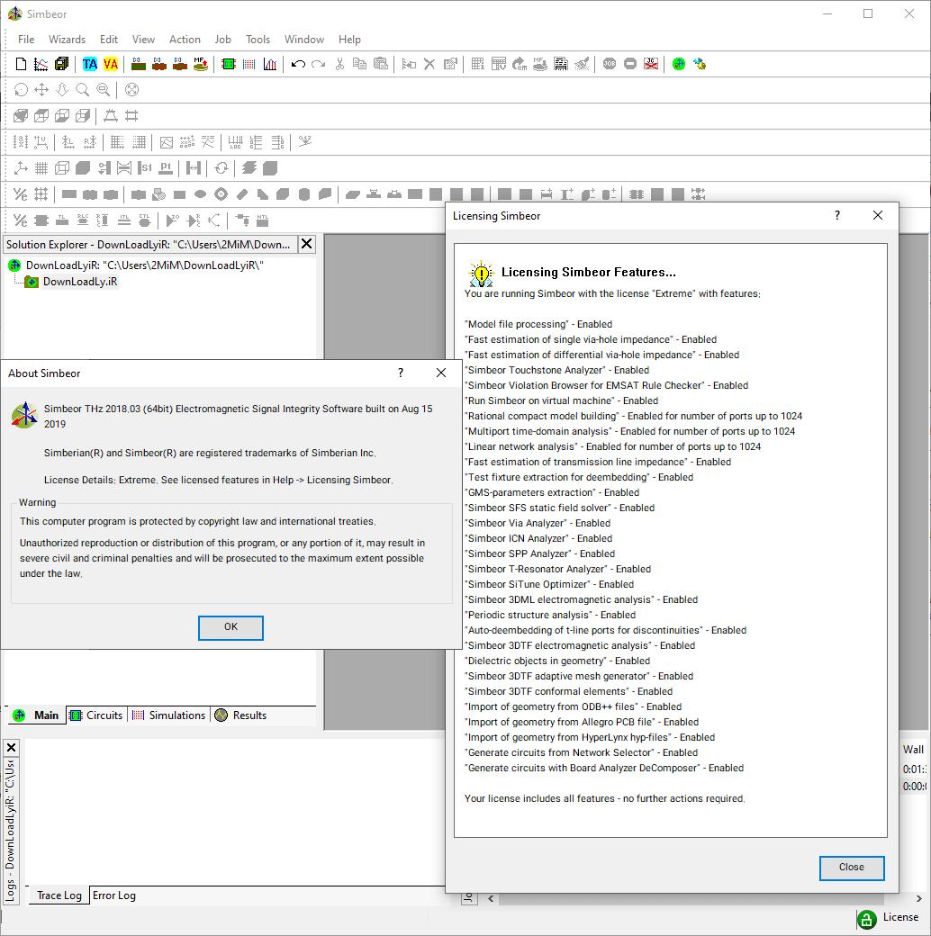 SIMBEOR screenshot