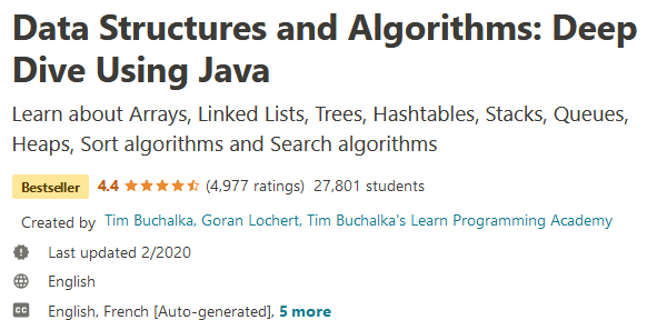 Data Structures and Algorithms: Deep Dive Using Java